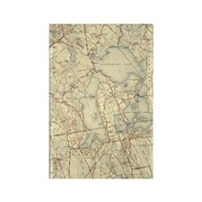 freetown-lakeville-map_full_16x20 Rectangle Magnet