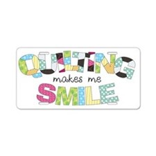 Quilting Smile Aluminum License Plate