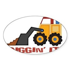 DigginIt_red Decal
