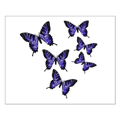 Purple Butterflies Small Poster