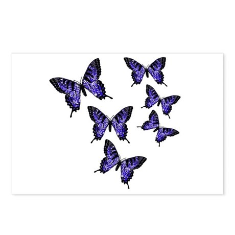 Purple Butterflies Postcards (Package of 8)
