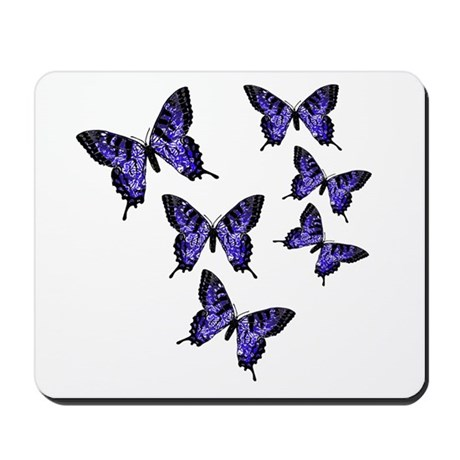 Purple Butterflies Mousepad