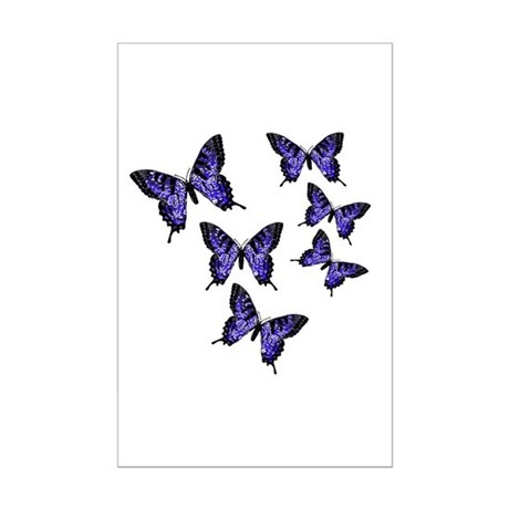 Purple Butterflies Mini Poster Print
