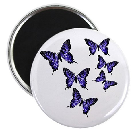 "Purple Butterflies 2.25"" Magnet (100 pack)"