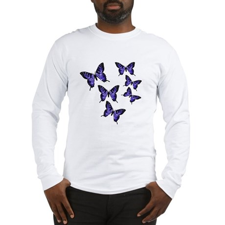Purple Butterflies Long Sleeve T-Shirt