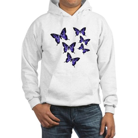 Purple Butterflies Hooded Sweatshirt