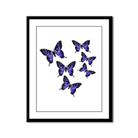 Purple Butterflies Framed Panel Print