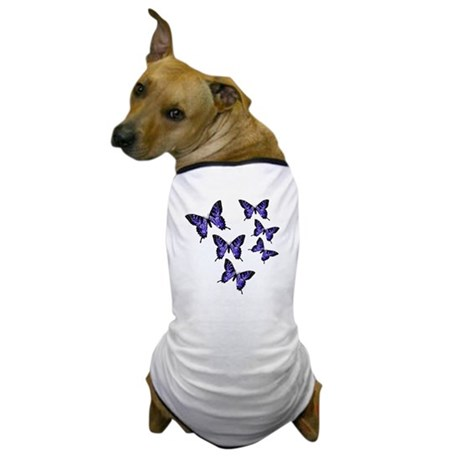 Purple Butterflies Dog T-Shirt