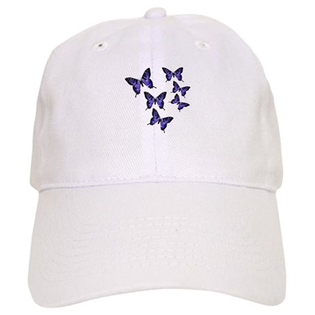 Purple Butterflies Cap