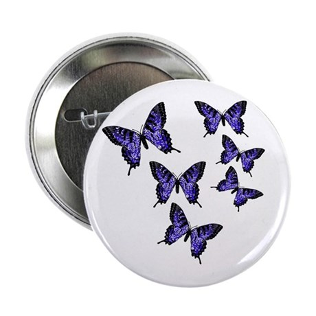 "Purple Butterflies 2.25"" Button (100 pack)"