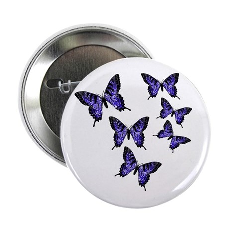 Purple Butterflies Button