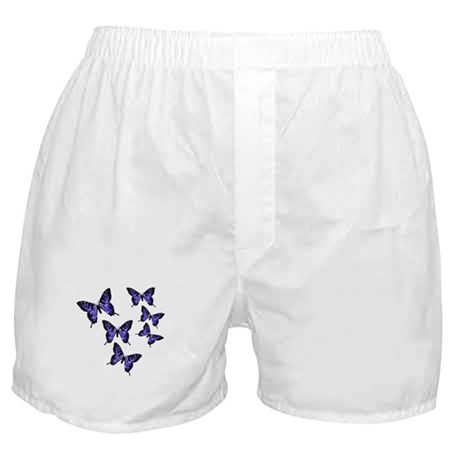 Purple Butterflies Boxer Shorts