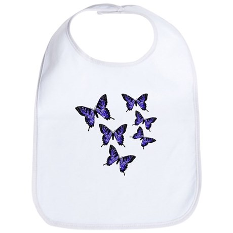 Purple Butterflies Bib