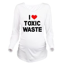 I-Heart-Toxic-Waste- Long Sleeve Maternity T-Shirt