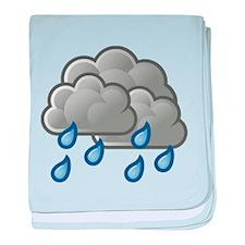 Rain Storm Clouds baby blanket