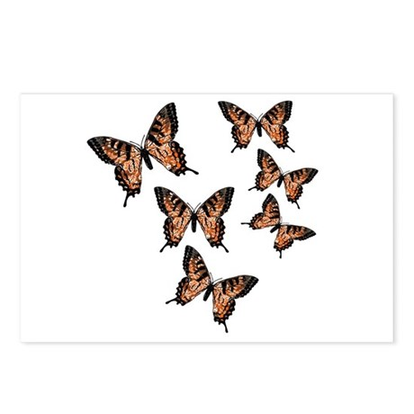 Orange Butterflies Postcards (Package of 8)