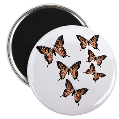 "Orange Butterflies 2.25"" Magnet (100 pack)"