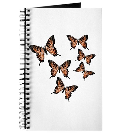Orange Butterflies Journal