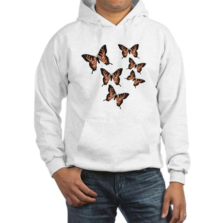 Orange Butterflies Hooded Sweatshirt