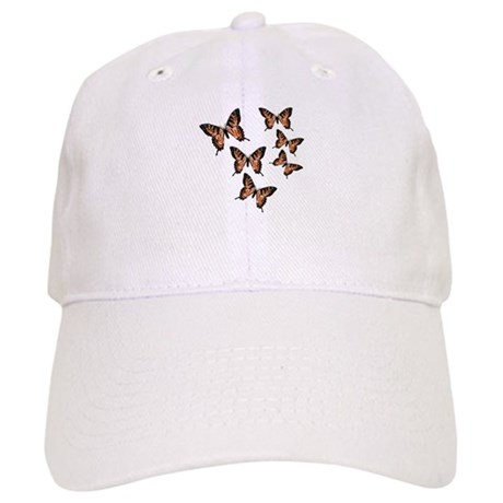 Orange Butterflies Cap