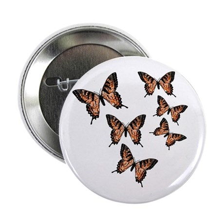 "Orange Butterflies 2.25"" Button (10 pack)"