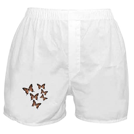 Orange Butterflies Boxer Shorts