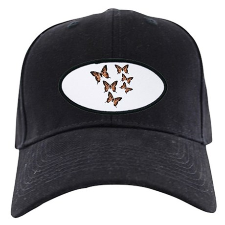 Orange Butterflies Black Cap