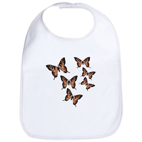 Orange Butterflies Bib