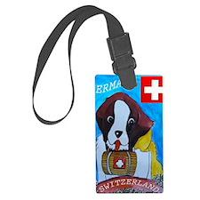 St Bernard card Luggage Tag