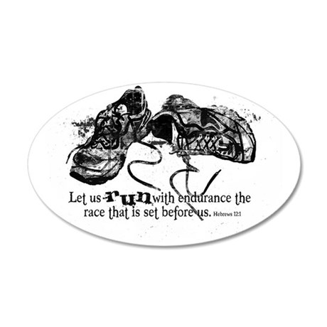 runningshoes 35x21 Oval Wall Decal