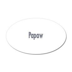 PAPAW METAL 20x12 Oval Wall Decal