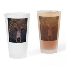 BEAR-POSTER2-cafe press size Drinking Glass
