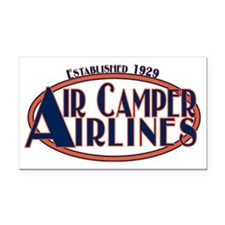 AircamperAirlines Rectangle Car Magnet