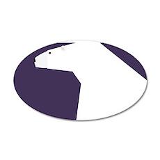 polar bear 35x21 Oval Wall Decal