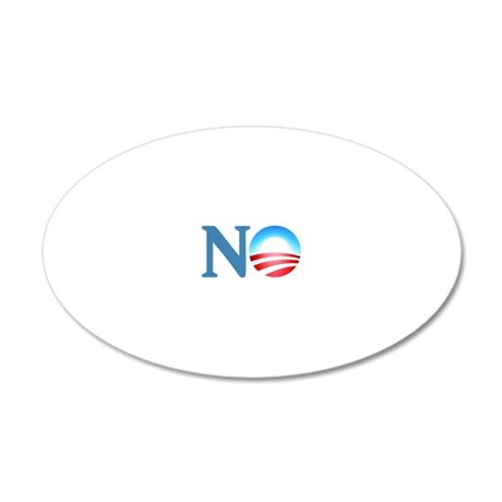 NO 20x12 Oval Wall Decal