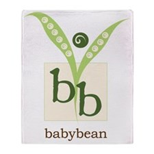 BabyBean Logo Throw Blanket