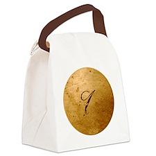 MetalGoldIneckTR Canvas Lunch Bag