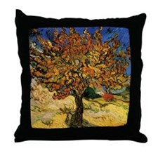 van gogh the mulberry tree Throw Pillow
