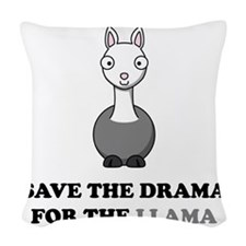 llama1 Woven Throw Pillow