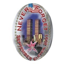 SEPTEMBER 11 001 Oval Ornament