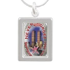 SEPTEMBER 11 001 Silver Portrait Necklace
