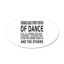 Bachata Dance Designs Oval Car Magnet