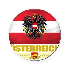 Austria (Flag 10) Cork Coaster