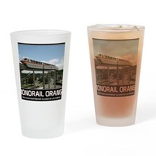 monorail ORANGE poster copy Drinking Glass