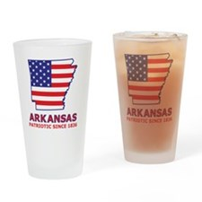 arkansas_state_flag_map2 Drinking Glass