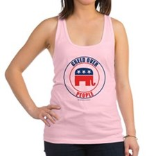 GREED OVER PEOPLE Racerback Tank Top