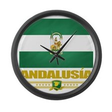 Andalusia (Flag 10) Large Wall Clock
