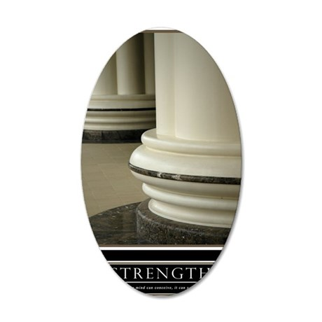 23x35_strength 35x21 Oval Wall Decal