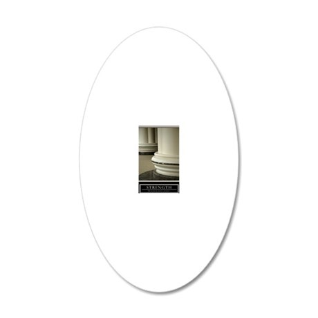 23x35_strength 20x12 Oval Wall Decal