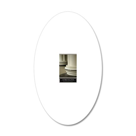 16x20_strength 20x12 Oval Wall Decal